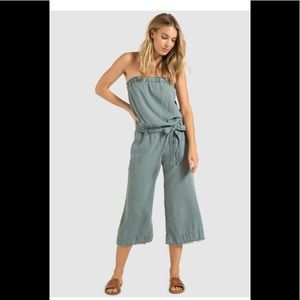 NWOT Cloth & stone strapless jumpsuit, size S